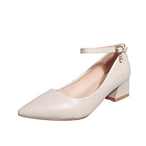 Seasons avec Simples Les Shoes Four avec Beige 41 Les Chaussures Une Femmes Faible la Pointue Chaussures Graisse de pour d'aide Pointe w6ar8wBxq