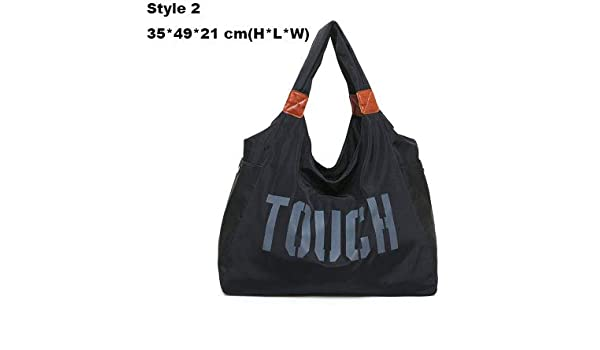 UY Sport Bag Women Training Gym Fitness Travel Bags Durable Waterproof  Nylon Outdoor Sports Handbag Shoulder Tote for Female XA74WA Black Style 2   Sports   ... 4fa564263ddad