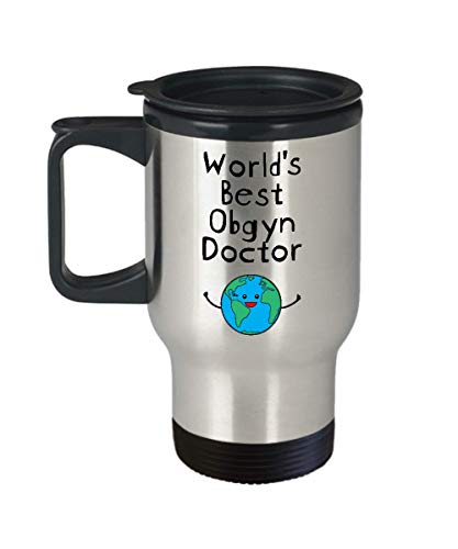World's Best Obgyn Doctor Travel Coffee Mug Stainless Steel Gifts for OB GYN Obstetrician Gynecologist Physician Midwife Fertility - Men Women Badass Future Superpower Ever Awesome