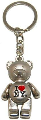 New York Keychain - I Love New York Bear, New York Keychains, New York City Souvenirs]()