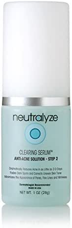 Neutralyze Moderate To Severe Acne Clearing Serum - Maximum Strength Acne Treatment Gel With Salicylic Acid + Mandelic Acid + Nitrogen Boost Skincare Technology