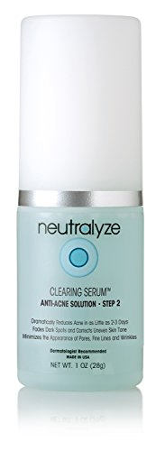 Neutralyze Moderate To Severe Acne Clearing Serum - Maximum Strength Acne Treatment Gel With Salicylic Acid + Mandelic Acid + Nitrogen Boost Skincare Technology... (Best Drugstore Dark Spot Treatment)