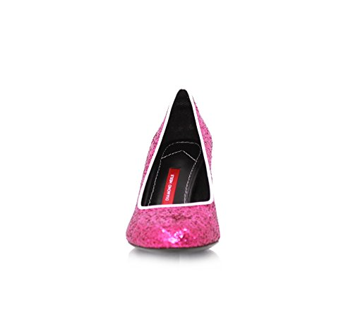 Pumps Stiletto 7cm Fuchsia Glitzer