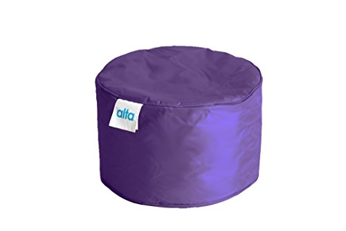 "Alta Footstool Bean Bag Ottoman Made Stain and Water Resistant to Help Rest Your Feet and Legs, 13.7"" x 21.6"" Purple (Outdoor Waterproof Bean Bags Furniture)"