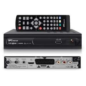 SPCinternet 9001N - Sintonizador de televisión externo (mando a distancia, HDMI, USB), negro