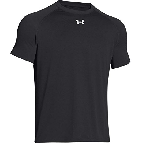 Under Armour Men's Tech Short Sleeve T-Shirt, Small, Black/White