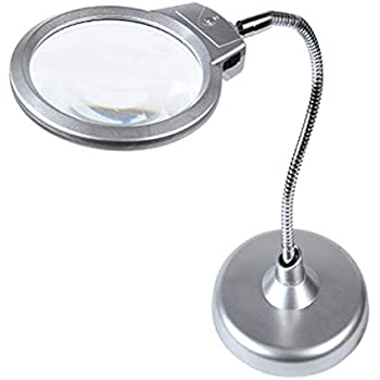 Amazon Com Large Magnifying Glass Stand 2 25x 5x