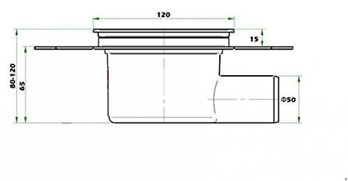Duschablauf Badablauf Bodenablauf DN 50 in Edelstahl Arco 1