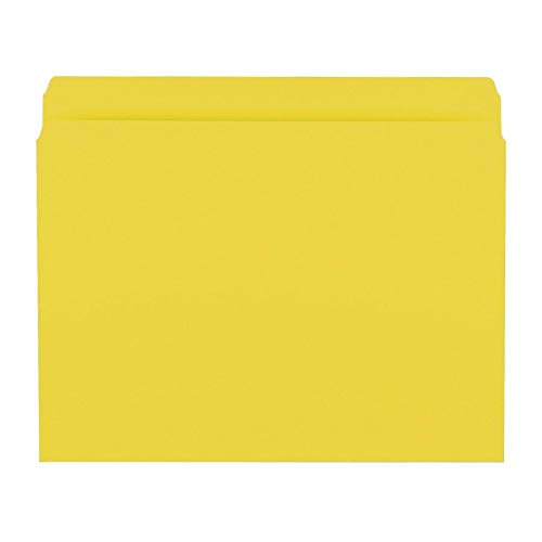 einforced Straight-Cut Tab, Letter Size, Yellow, 100 per Box (12910) ()