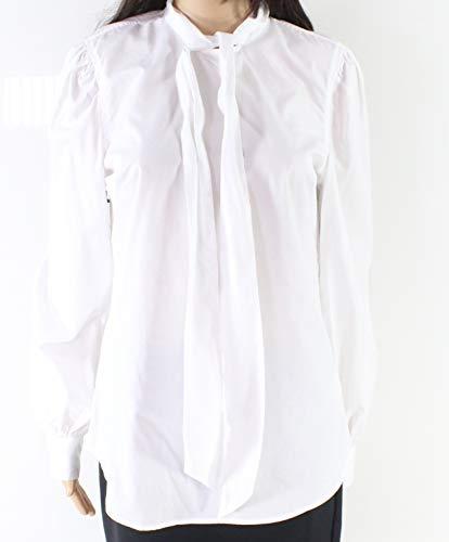 LAUREN RALPH LAUREN Womens Piedad Tie Front Day to Night Blouse White L (La Piedad)