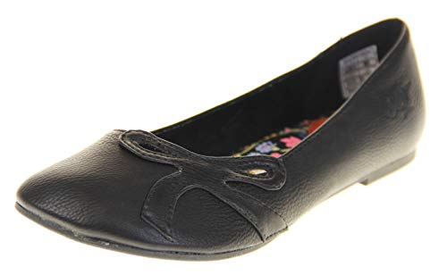 Ballet Pumps Ballerinas Dog Black UK 3 Flats Womens Rocket Shoes fqwtdXSf