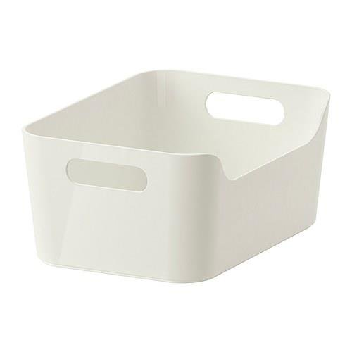 Ikea Variera Convenient Kitchen Open Storage Box, High Gloss White (Storage Bins Ikea)