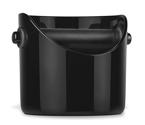 (Dreamfarm Big Grindenstein - Large Coffee Grind Knock Box and Espresso Dump Bin (Black))