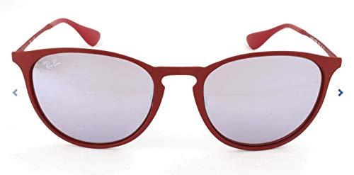 Ray-Ban Erika Metal Non-Polarized Sunglasses (RB3539), Bordeaux/Pink Silver Mirror, 54 ()