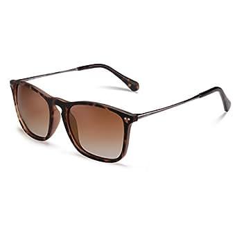 Carfia Vintage Polarized Sunglasses for Men, 100% UV400 Protection (Brown Lenses)