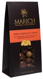 Marich Chocolates-Triple Chocolate Toffee, 4.25 ()