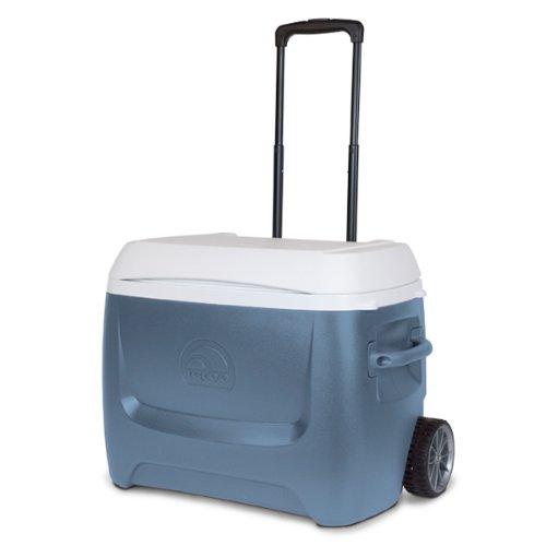 Igloo Island Breeze Maxcold 50 Quart Roller Cooler (Ice Blue, 27.5 x 16.75 x 19.063-Inch)