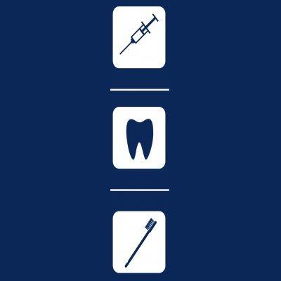 Sudadera con capucha de mujer Dentist Tools by Shirtcity Azul marino