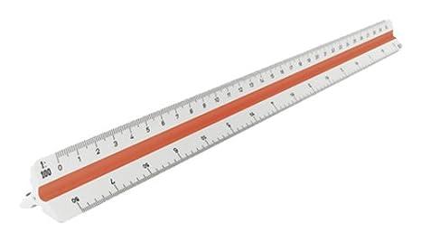 Aristo GEOCollege - Escalímetro de plástico (30 cm), color blanco: Amazon.es: Oficina y papelería
