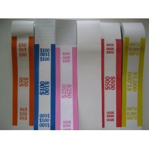 2500 Assorted Currency Straps/bands