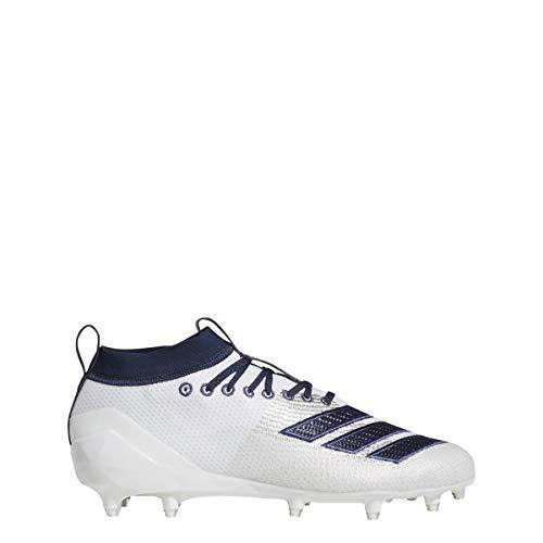 adidas Men's Adizero 8.0 Football Shoe White/Collegiate Navy/Noble Indigo 8 M US ()