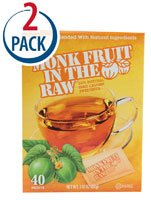In The Raw Monk Fruit Sweetener -- 40 Packets Each / Pack of 2