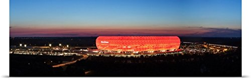 great-big-canvas-poster-print-entitled-soccer-stadium-lit-up-at-dusk-allianz-arena-munich-bavaria-ge