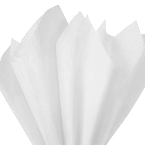 150 Pack x Mighty Gadget (R) Super White Colored Tissue Paper Sheets 15