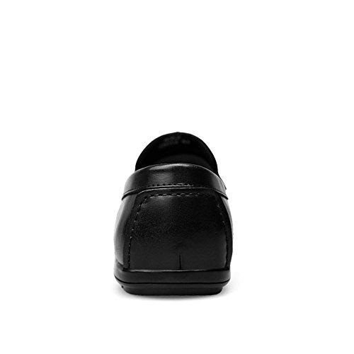 Nero da Leather ai da Facile da Style Casual Soft Uomo da da Barca Scarpe Lavoro Abbinare Traspirante Cricket Mocassini Mocassino Antiscivolo Guida qfw6dX11