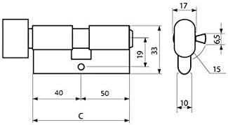 KOTARBAU Schlie/ßzylinder 30//30 Messing Mit Knauf Zylinderschloss Profilzylinder T/ürzylinder Schloss Schlosszylinder Sicherheitsschloss Doppelzylinder