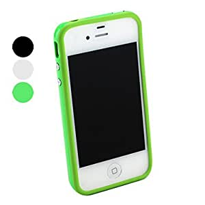 Buy For the iPhone 4/4 fashion TPU bumper skeleton (various colors) , Black