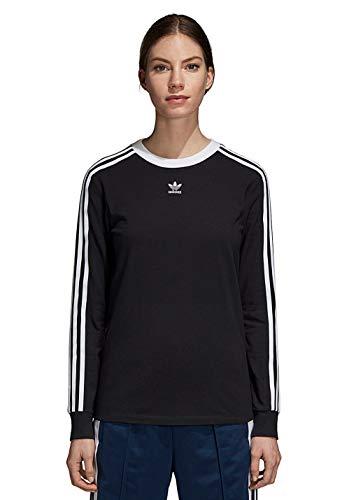 Maniche a Donna Nero LS Maglia adidas Stripes 3 Lunghe qP7wBX