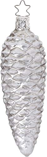 Inge-Glas Cone Silver Matte 10228S019 German Glass Christmas ()