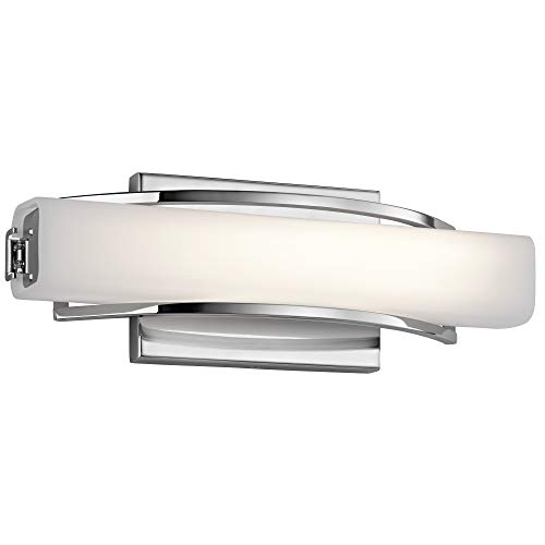 Contemporary Bathroom Sconces - Elan 83760 1 Rowan Sconce/Vanity Bath Wall Lighting, 21W, Chrome