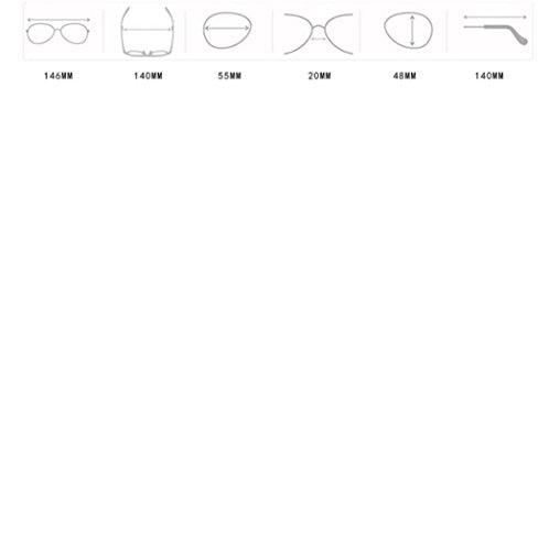 Parte lujosas de de de de Lentes Aviador Plana F Tamaño G Espejo Turquía Sol y Marco Gran Gafas de Superior con Grandes 6xzw0z4q