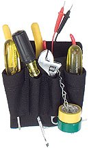 Boulder Bag ULT- 130 Mini Electrician Tool Pouch (Metal Clip On) - Black. Made in U.S.A.