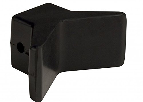 CE Smith Y-Style Bow Stop, Black, 3-Inch- Replacement Parts and Accessories for Your Ski Boat, Fishing Boat or Sailboat Trailer
