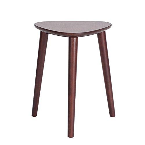 HHCS Taburete de moda creativa de madera maciza Inicio Taburete de mesa de comedor moderno simple Taburete de vestir nordico Taburete de triangulo de sala de estar (30 * 35 * 44 cm) Taburetes