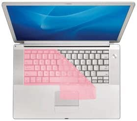 CV-P-Pink KB Covers Keyboard Cover for MacBook Pro Series with Silver Keys and PowerBook Pink