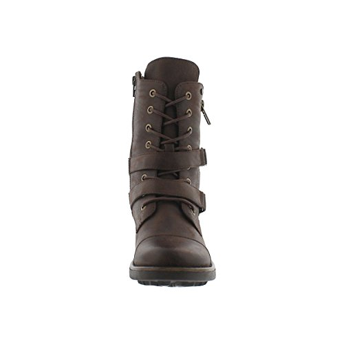 Brn Lace up Boot SoftMoc Women's Dk Combat Bex t4EwE0
