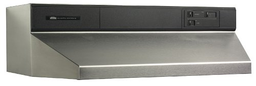 Broan 893604 Contemporary Under-Cabinet Range Hood, 36-Inch, Stainless Steel