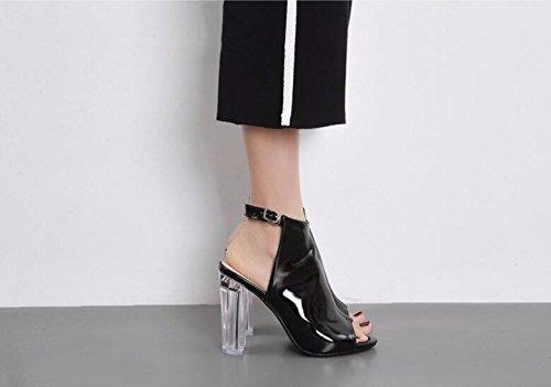 bocca 39 black corrispondenza femmina di pesce scarpe e GTVERNH sandali trasparente volgare UdHqwUx