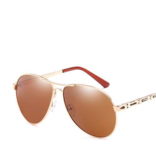 Los Sol UV Protección Callejero De Silver Moda De Brown Gafas Metal Marco De Tiro Conducción De Gafas Retro Hombres 0Yxg5wZq
