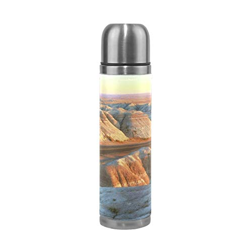 OuLian Water Bottle Canyon Cat Badlands Sports Insulated Stainless Steel Water Bottles Leak Proof Double Wall Thermos Leather Cover 17 Oz (Stanley 24 Oz Utility Ss Water Bottle)