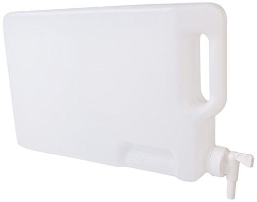 Hudson Exchange 5 Liter Hedpak Container with Spigot, HDPE, Natural