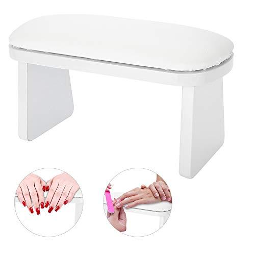 Nagel Armlehne-Nail Art Leder Maniküre Handauflage Kissen Tisch Schreibtisch Station für Armlehne Maniküre Salon (Farbe : Weiß)