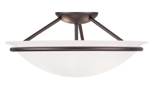 Livex Lighting 4824-07 Newburgh 3-Light Ceiling Mount, -