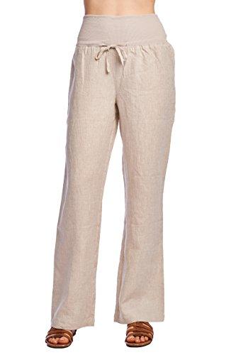 Womens Linen Pants - 9