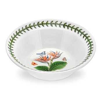 PORTMEIRION EXOTIC BOTANIC GARDEN Oatmeal bowl bird of paradise by Portmeirion