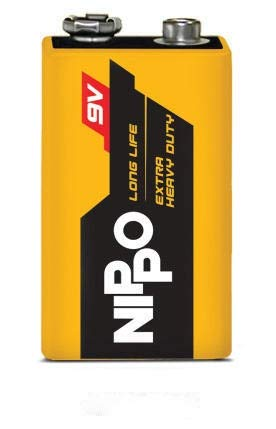 NIPPO Long Life 9V Rectangular Extra Duty Battery- Pack of 2 Battery. (B0846N3QRX) Amazon Price History, Amazon Price Tracker